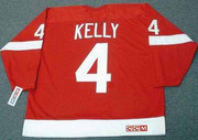 RED KELLY Detroit Red Wings 1950's Home CCM Throwback NHL Hockey Jersey - BACK