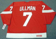 NORM ULLMAN Detroit Red Wings 1966 Home CCM Throwback NHL Hockey Jersey - BACK