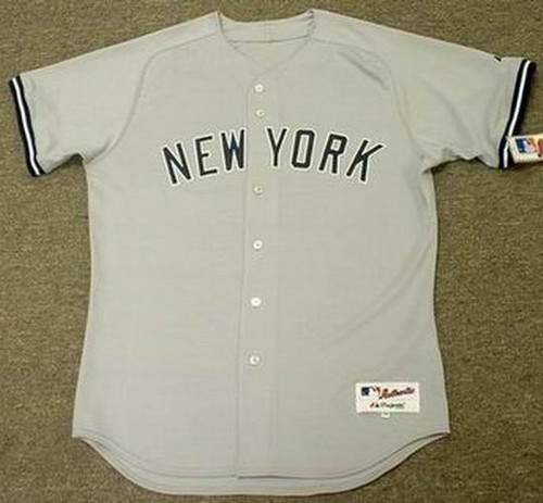 Derek Jeter 1998 New York Yankees MLB Authentic  Away Throwback Baseball Jersey - FRONT