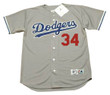 FERNANDO VALENZUELA Los Angeles Dodgers 1981 Away Majestic Baseball Throwback Jersey - Front