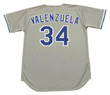 FERNANDO VALENZUELA Los Angeles Dodgers 1981 Away Majestic Baseball Throwback Jersey - Back