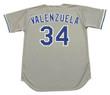 FERNANDO VALENZUELA Los Angeles Dodgers 1981 Away Majestic Baseball Throwback Jersey - Back