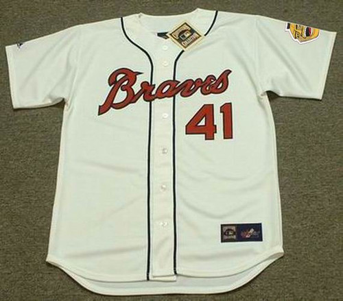 Eddie Mathews 1960's Milwaukee Braves Cooperstown MLB Throwback Baseball Jerseys - FRONT
