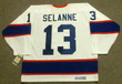 TEEMU SELANNE Winnipeg Jets 1992 Home CCM NHL Vintage Throwback Jersey - BACK