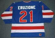 MIKE ERUZIONE 1980 USA Olympic Away Hockey Jersey
