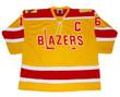 DEREK SANDERSON Philadelphia Blazers WHA 1973 Throwback Hockey Jersey - FRONT