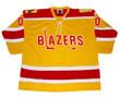 Bernie Parent 1973 Philadelphia Blazers WHA Throwback Hockey Jersey - Front