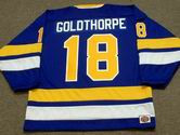 "BILL ""GOLDIE"" GOLDTHORPE  Minnesota Fighting Saints 1974 WHA Throwback Hockey Jersey"