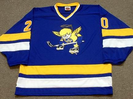 separation shoes cd2d9 ae503 JACK CARLSON Minnesota Fighting Saints 1975 WHA Throwback Hockey Jersey