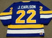 JEFF CARLSON Minnesota Fighting Saints 1975 WHA Throwback Hockey Jersey