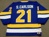 STEVE CARLSON Minnesota Fighting Saints 1975 WHA Throwback Hockey Jersey
