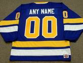 "MINNESOTA FIGHTING SAINTS 1970's WHA Throwback Jersey Customized ""Any Name & Number(s)"""
