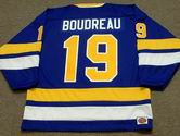 BRUCE BOUDREAU Minnesota Fighting Saints 1975 WHA Throwback Hockey Jersey - BACK
