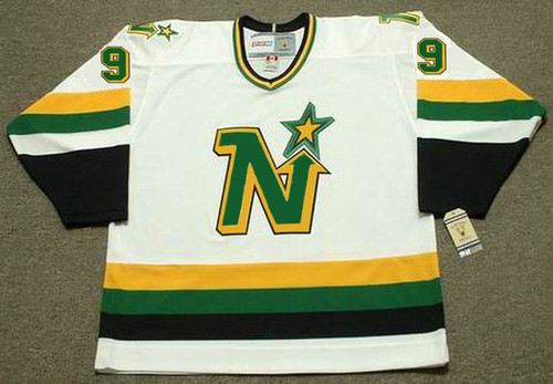 MIKE MODANO Minnesota North Stars 1991 Home CCM NHL Vintage Throwback Jersey - FRONT