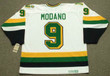 MIKE MODANO Minnesota North Stars 1991 Home CCM NHL Vintage Throwback Jersey - BACK