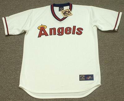 93f22c347 CALIFORNIA ANGELS 1980 s Majestic Cooperstown Throwback Baseball Jersey -  Custom Throwback Jerseys