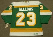 BRIAN BELLOWS Minnesota North Stars Jersey 1984 CCM Vintage Throwback NHL - BACK