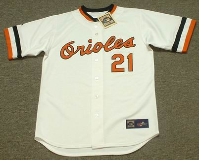 competitive price 0b5b5 3bbad NICK MARKAKIS Baltimore Orioles 1980's Majestic Cooperstown Throwback Jersey