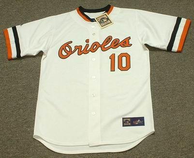 ADAM JONES Baltimore Orioles 1980's Majestic Cooperstown Throwback Baseball Jersey - FRONT