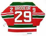 "MARTIN BRODEUR New Jersey Devils 1992 ""Rookie"" Away  CCM NHL Vintage Throwback Jersey - BACK"