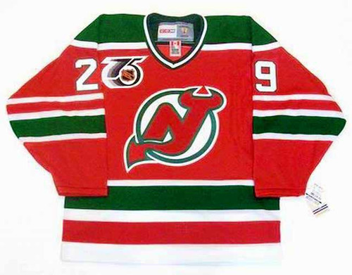 "MARTIN BRODEUR New Jersey Devils 1992 ""Rookie"" Away  CCM NHL Vintage Throwback Jersey - FRONT"
