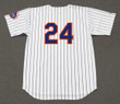 WILLIE MAYS New York Mets 1973 Home Majestic Baseball Throwback Jersey - BACK