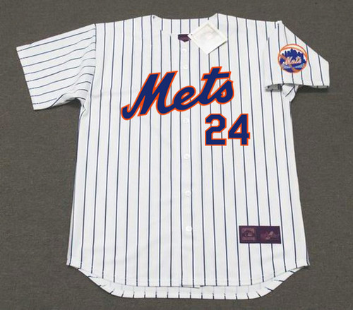 WILLIE MAYS New York Mets 1973 Home Majestic Baseball Throwback Jersey - FRONT