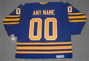 Customized 1980's Away CCM Buffalo Sabres Retro Jersey - BACK