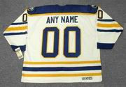 Customized 1980's Home CCM Buffalo Sabres Retro Jersey - BACK