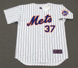 CASEY STENGEL New York Mets 1962 Home Majestic Baseball Throwback Jersey - FRONT
