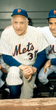 CASEY STENGEL New York Mets 1962 Home Majestic Baseball Throwback Jersey - ACTION
