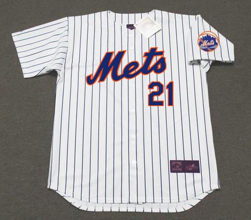 CLEON JONES New York Mets 1969 Home Majestic Baseball Throwback Jersey - FRONT