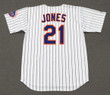 CLEON JONES New York Mets 1969 Home Majestic Baseball Throwback Jersey - BACK
