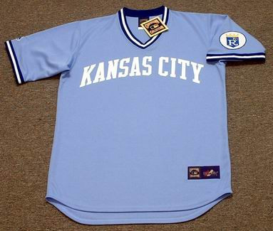 best cheap 0425c d0e0d GEORGE BRETT Kansas City Royals 1980 Majestic Cooperstown Throwback  Baseball Jersey
