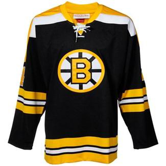 BOBBY ORR 1972 Mitchell & Ness Authentic Throwback Boston Bruins  Away Jerseys - FRONT