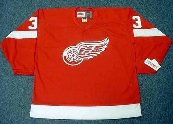KRIS DRAPER Detroit Red Wings 2002 Away CCM Throwback Hockey Jersey