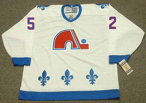 1992 Quebec Nordiques Home CCM Throwback ADAM FOOTE NHL hockey jersey - FRONT