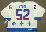 1992 Quebec Nordiques Home CCM Throwback ADAM FOOTE NHL hockey jersey - BACK