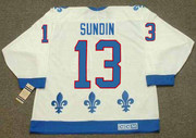 MATS SUNDIN Quebec Nordiques 1991 Home CCM Throwback NHL Hockey Jersey - BACK