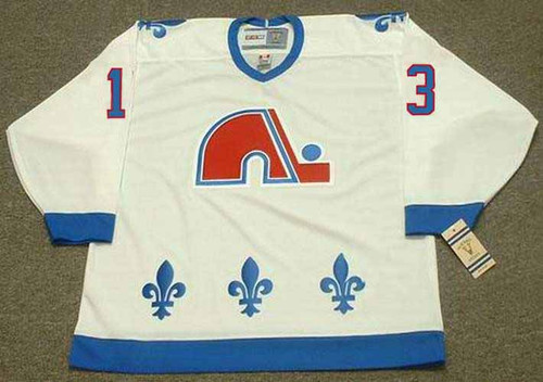 MATS SUNDIN Quebec Nordiques 1991 Home CCM Throwback NHL Hockey Jersey - ACTION