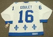 MICHEL GOULET Quebec Nordiques 1988 Home CCM Vintage Throwback Hockey Jersey - BACK