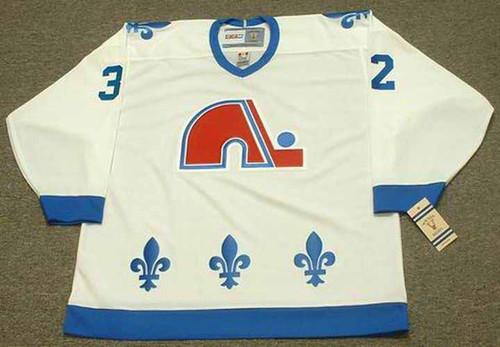 DALE HUNTER Quebec Nordiques 1985 Home CCM Vintage Throwback Hockey Jersey - FRONT