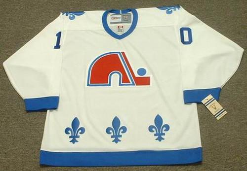 GUY LAFLEUR Quebec Nordiques 1990 Home CCM Vintage Throwback Hockey Jersey - FRONT