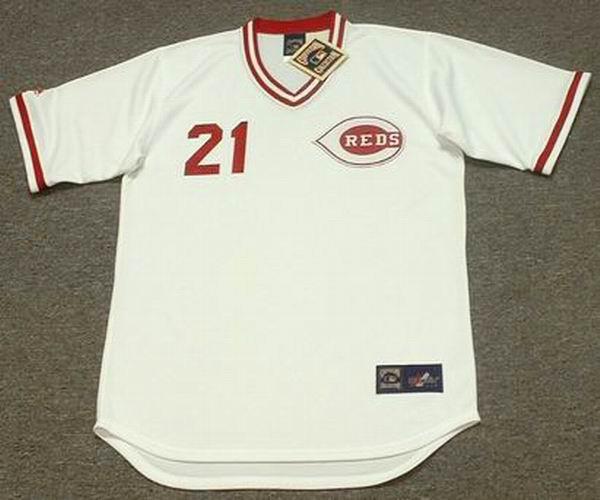 cheap for discount d0b2c b3655 PAUL O'NEILL Cincinnati Reds 1990 Majestic Cooperstown Home Baseball Jersey