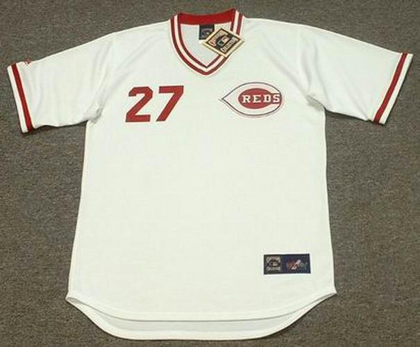 84e99a19a JOSE RIJO Cincinnati Reds 1990 Majestic Cooperstown Home Baseball Jersey -  Custom Throwback Jerseys