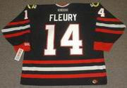 THEOREN FLEURY Chicago Blackhawks 2002 CCM Throwback Alternate NHL Hockey Jersey