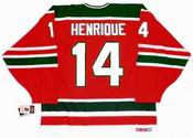 1980's New Jersey Devils CCM Vintage ADAM HENRIQUE NHL throwback jersey - BACK