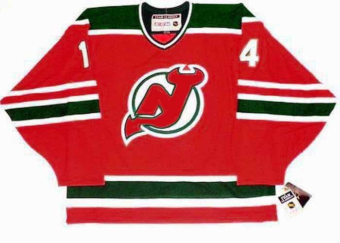 ADAM HENRIQUE New Jersey Devils 1980's CCM Vintage Throwback NHL Hockey Jersey