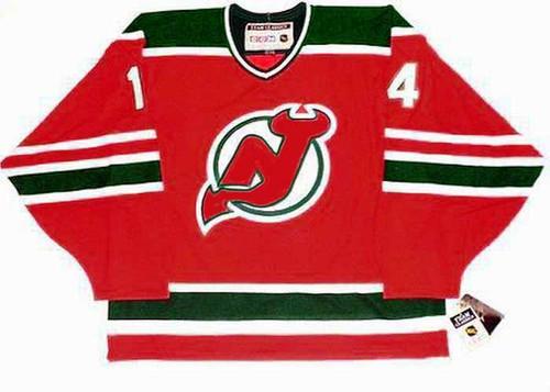 1980's New Jersey Devils CCM Vintage ADAM HENRIQUE NHL throwback jersey - FRONT