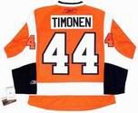 KIMMO TIMONEN Philadelphia Flyers 2010 REEBOK Throwback NHL Hockey Jersey